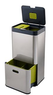 Green compost and bin designing a kitchen MG Interior Design