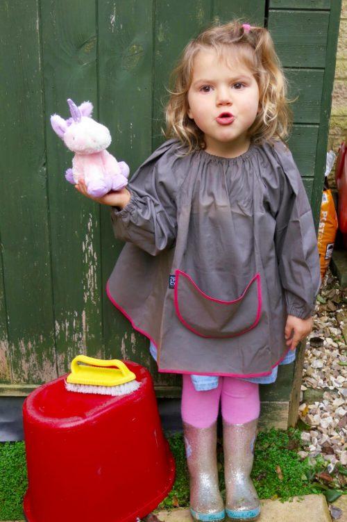 Traditional children's art smock