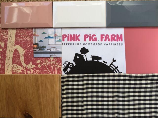 Pink Pig Farm shop mood board