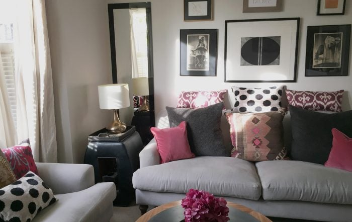 Living room designed by Maggie Greening MG Interior Design