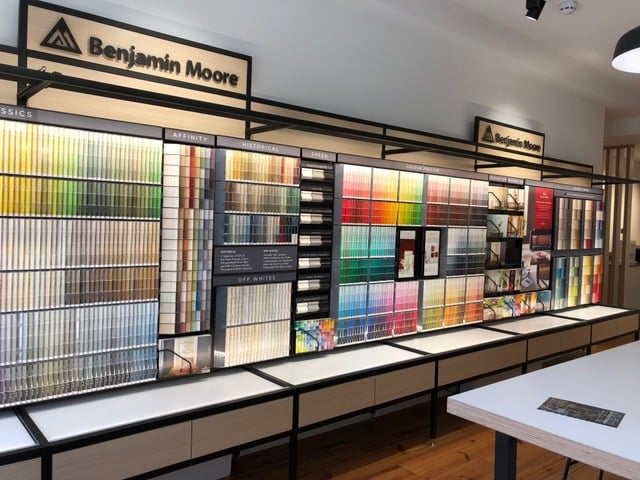 Image of paint colour samples illustrating MG Interior Design Personal Shopping Days